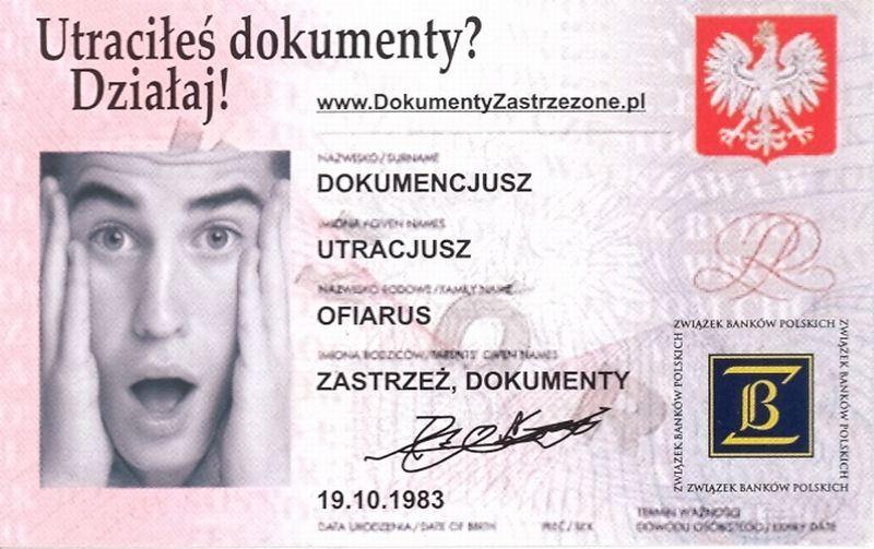 Ilustracja do informacji: Utraciłeś dokumenty? Zastrzeż je w banku