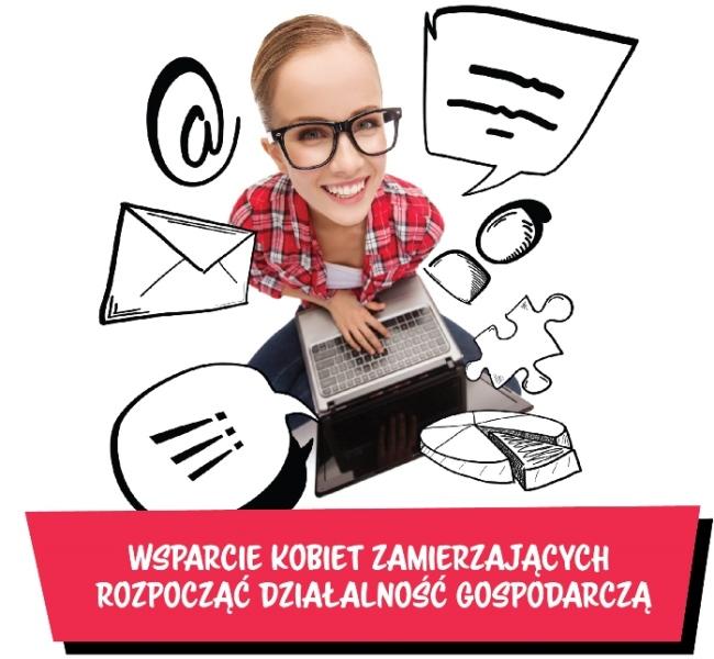 """Ilustracja do informacji: Uwaga! Projekt """"Wsparcie kobiet zamierzających rozpocząć działalność gospodarczą"""""""