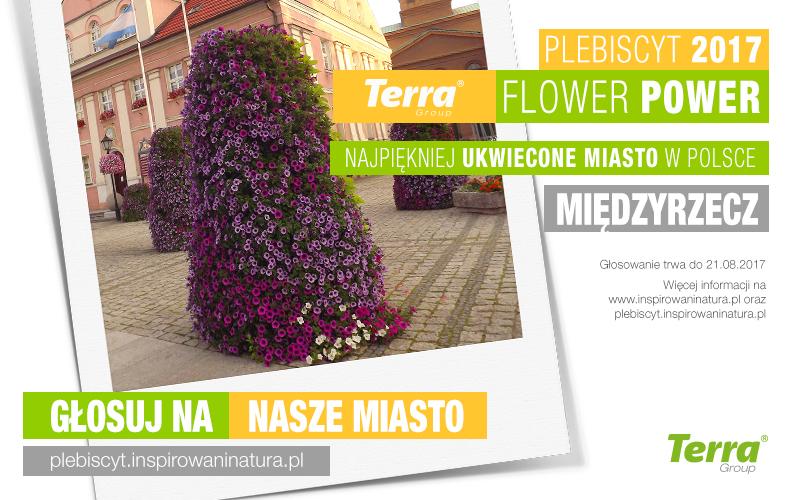 Ilustracja do informacji: Zagłosuj na Międzyrzecz w plebiscycie Terra Flower Power