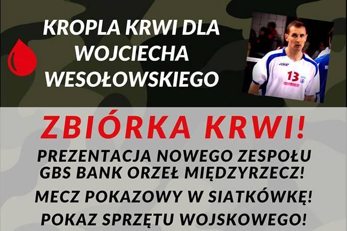 Ilustracja do informacji: Kropla krwi dla Wojciecha Wesołowskiego