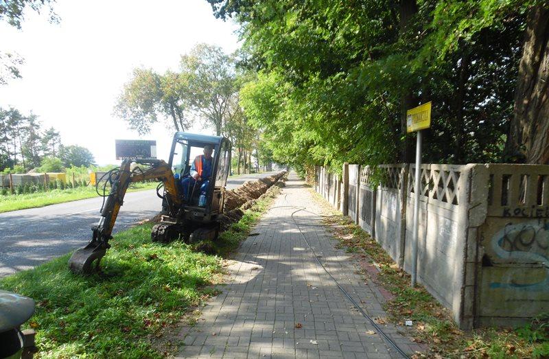 Ilustracja do informacji: Budowa oświetlenia przy ul. Poznańskiej