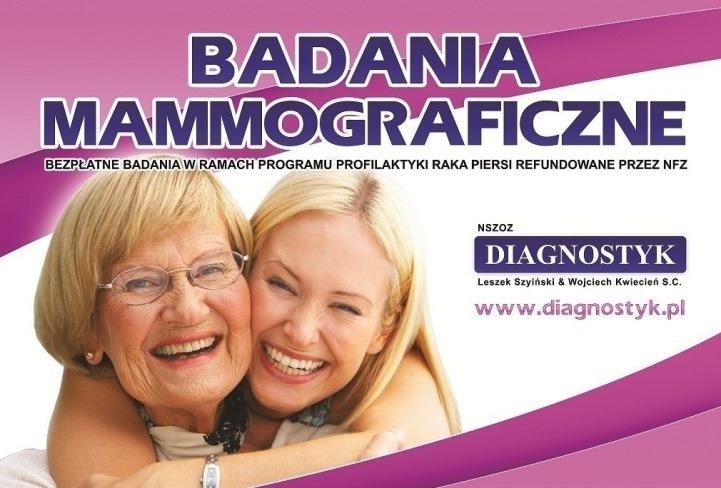 Ilustracja do informacji: Uwaga Panie! Badania mammograficzne