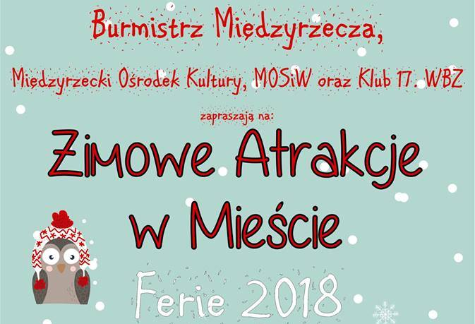 Ilustracja do informacji: Burmistrz Remigiusz Lorenz zaprasza na ferie zimowe