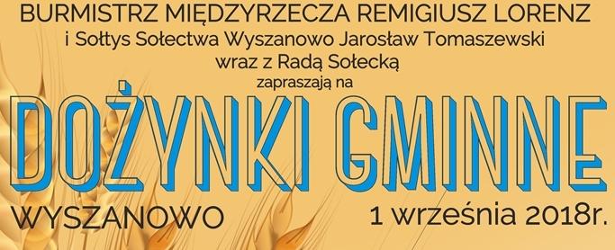 Ilustracja do informacji: Już w tę sobotę zapraszamy na Dożynki gminne - Wyszanowo 2018