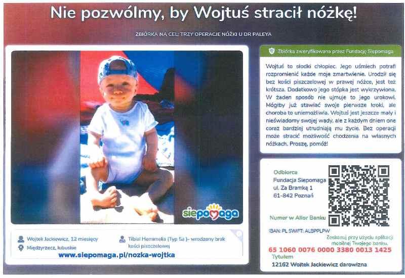 Ilustracja do informacji: Apelujemy o pomoc dla małego Wojtusia!