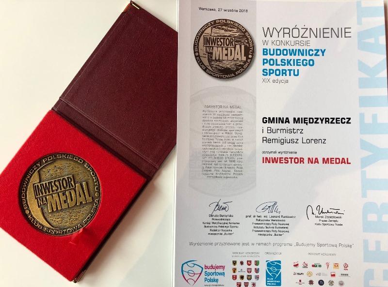 Ilustracja do informacji: Tytuł Inwestor na Medal 2018 dla gminy Międzyrzecz