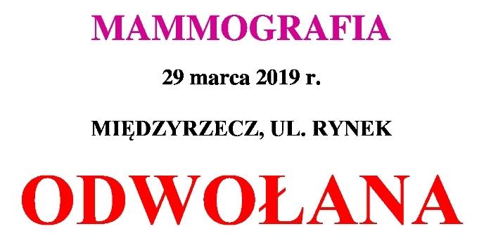 Ilustracja do informacji: UWAGA, mamografia odwołana