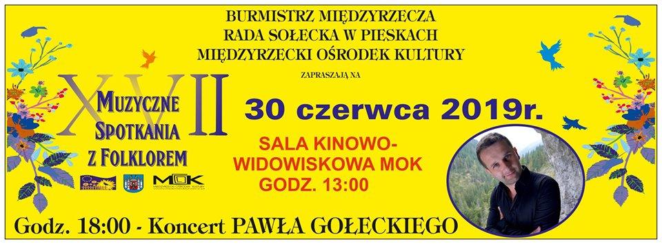 Ilustracja do informacji: Uwaga: Muzyczne Spotkania z Folklorem odbędą się w domu kultury w Międzyrzeczu!