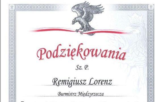 Ilustracja do informacji: Żołnierze podziękowali burmistrzowi Remigiuszowi Lorenzowi