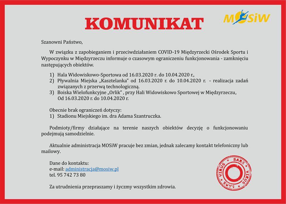 Ilustracja do informacji: Koronawirus: Ważna informacja!