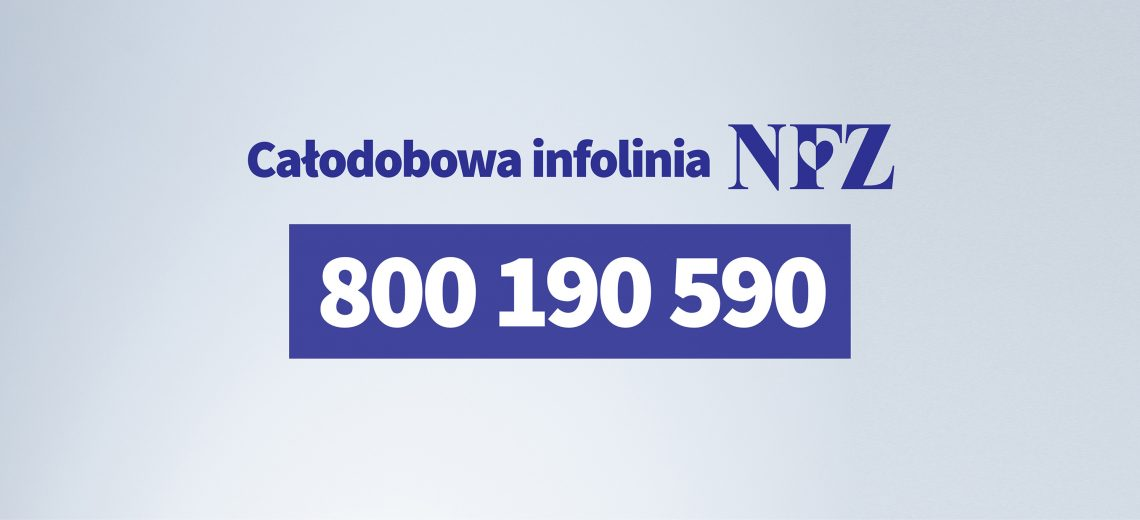 Ilustracja do informacji: Infolinia Narodowego Funduszu Zdrowia: Zapamiętaj ten numer: 800 190 590
