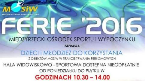 Ilustracja do informacji: Ferie zimowe z Międzyrzeckim Ośrodkiem Sportu i Wypoczynku