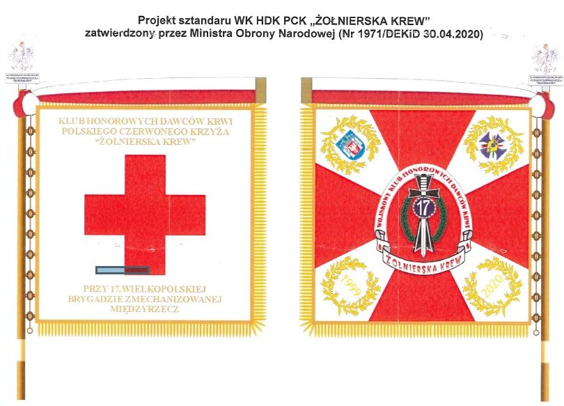 Ilustracja do informacji: Sztandar dla wojskowych krwiodawców
