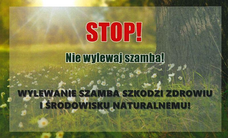 Ilustracja do informacji: Nie wylewaj nieczystości na pola i działki!