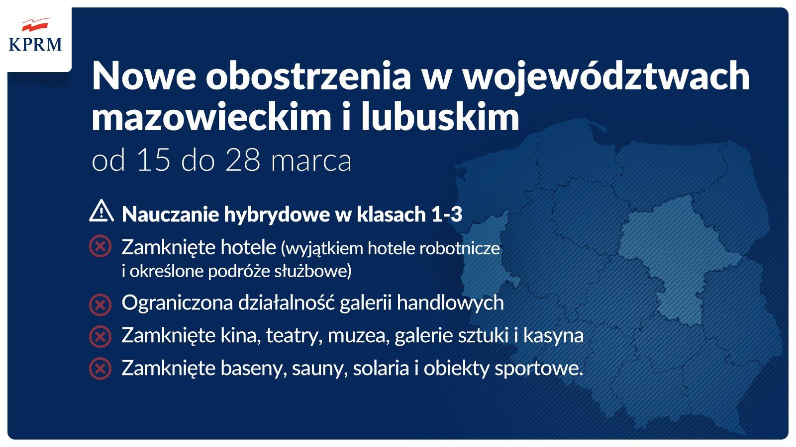 Ilustracja do informacji: Uwaga! Od poniedziałku, 15 marca, woj. lubuskie objęte zostanie tzw. strefą czerwoną!