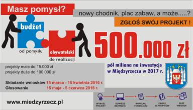 Ilustracja do informacji: Zgłoś wniosek do Budżetu Obywatelskiego
