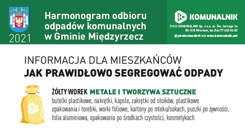 Ilustracja do informacji: Harmonogram wywozu odpadów komunalnych w mieście i gminie