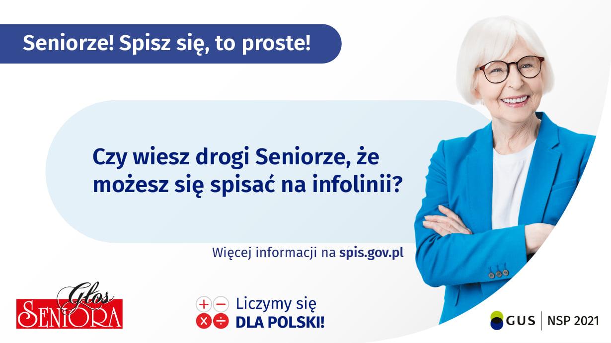 Ilustracja do informacji: Narodowy Spis Powszechny: Seniorze, skorzystaj z infolinii