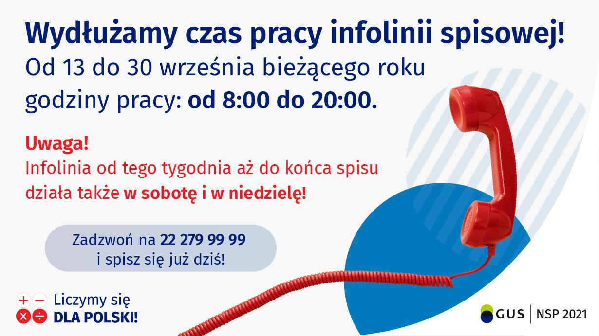 Ilustracja do informacji: Narodowy Spis Powszechny: Wydłużono godziny pracy infolinii spisowej!