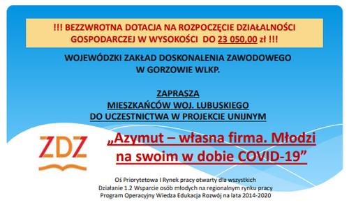 Ilustracja do informacji: Projekt Azymut - własna firm
