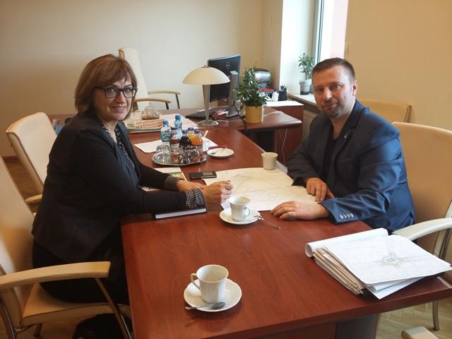 Ilustracja do informacji: Spotkanie burmistrza Międzyrzecza z Członkiem Zarządu Województwa Lubuskiego Alicją Makarską
