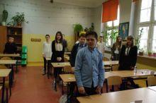 Miniatura zdjęcia: Pani burmistrz życzyła powodzenia szóstoklasistom